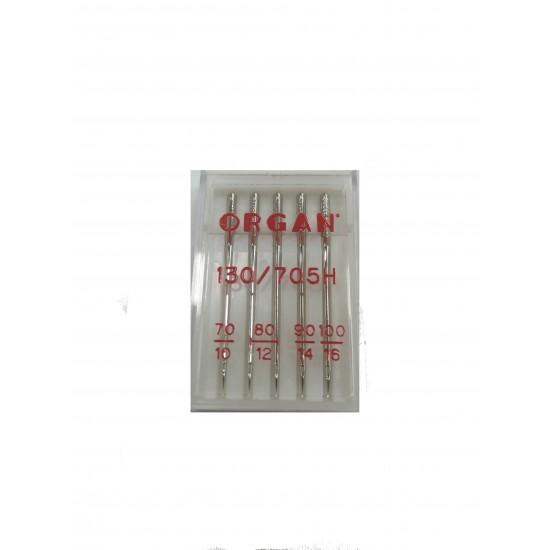 """Igle za šivaće mašine """"Organ"""" 130/705 NM. 70-80-90-100"""